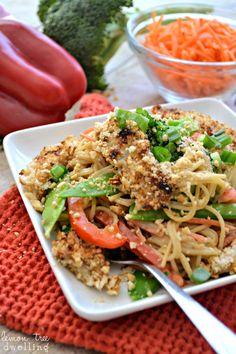 Asian Noodles with peanut teriyaki sauce