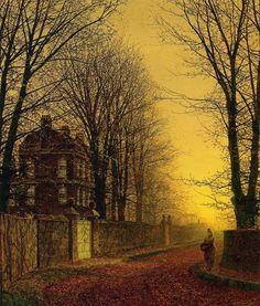 Autumn Gold by Atkinson Grimshaw