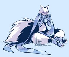 """omgwtfneo: """" Alopex is cuddle fox in winter times. ♥ She's such a fluffy muffin. Also on deviantart @ [link] """" Reblogging cuz I posted this fluffy laaate last night!"""