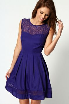 Arina Lace Sweetheart Skater Dress. $50.00 by boohoo.com…want this for squirt.