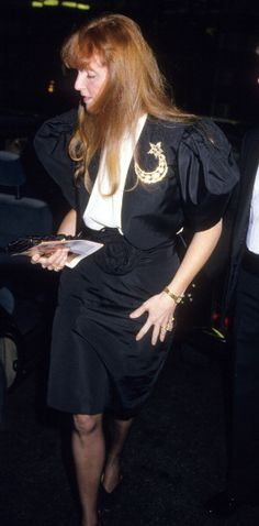 Sarah Ferguson Duchess of York during Sarah Ferguson Sighting at 'Over My Dead Body' at the Savoy Theatre February 2 1989 at Savoy Theatre in London...