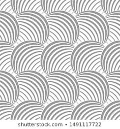 Vector seamless texture. Modern geometric background with circles.