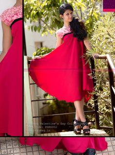 Crimson flared dress