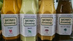 Momo Dressing - great colors (both on the packaging and the product itself), and a printed-on texture that gives a feeling of authenticity and craftmanship.