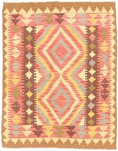 Kilim Afghan Old style 91x115 - CarpetVista