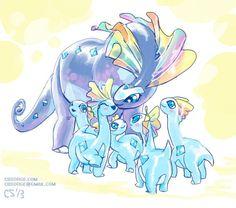 Amaura & Aurorus - Pokemon | ✨ Pokemon ✨ | Pinterest | Fossil ...