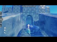 "Elsa is surveying her renovated castle. This castle can be found in the Toy Box ""Frozen Derezzed"" within Community Content. Elsa Castle, Suburban House, Ice Castles, Disney Infinity, Jelsa, Elsa Frozen, Minecraft, Map, Fanfiction"