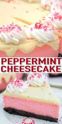 Peppermint Cheesecake is the most festive dessert this Christmas! It is not your ordinary dessert. It is rich, decadent, and refreshingly unique! Desserts Brownie Peppermint Cheesecake (Video) - Sweet and Savory Meals Winter Desserts, Christmas Desserts, Christmas Baking, Christmas Cheesecake, Christmas Christmas, Slow Cooker Desserts, Dessert Party, Bon Dessert, Simple Dessert