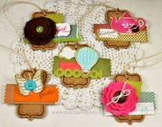 Pretty cork embellishments for all types of crafts!