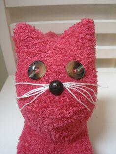 Handmade Valentine Sock Cat by scooterandgoose on Etsy, $25.00