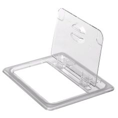 Cambro Clear Camwear 1/6 Size Solid Food Pan FlipLid by Cambro. $4.23. Hinged Lid Allows Quick Access to Food. Dishwasher Safe. NSF Certified. Stackable. Temperature Range: -40°F to 210°F. Cambro Clear Camwear 1/6 Size Solid Food Pan FlipLidFor a more convenient way to both serve the contents of your food pans and prevent cross-contamination, use this clear, 1/6 size, solid FlipLid. Just flip the hinged lid up for quick and easy access, saving you time and preventing excess ...