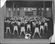 Jonas Clark Hall basement gym in 1915.