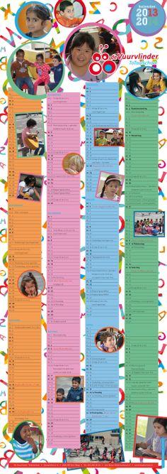 Schoolkalender voor Totaalschool de Vuurvlinder 2013-2014