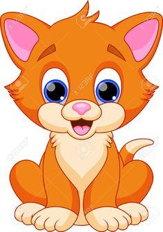 Divertidos Dibujos Animados Del Gato Ilustraciones Vectoriales, Clip Art…