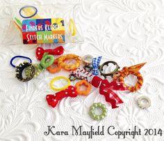Stitch Markers Finders Keepers Woodland by KnitnKaboodleDesigns  #knit #knitting #stitch #ringmarker #stitchmarker