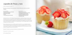 Receta de cupcakes de fresa y nata
