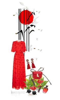 """""""I pick red for today!"""" by wodecai ❤ liked on Polyvore featuring Reeds Jewelers, Emilio Pucci, Miu Miu, Christian Dior and Lanvin"""