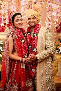 "Celeb- ""I'll call it more of an arranged marriage because our families have known each other for a long time""- Suresh Raina What do you prefer? Celebrity Couples, Celebrity Weddings, Celebrity Style, Indian Celebrities, Hollywood Celebrities, Chennai Super Kings, Couple Outfits, Love And Marriage, Cute Couples"
