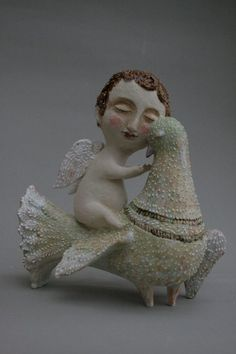 Angel Free built ceramic sculpture