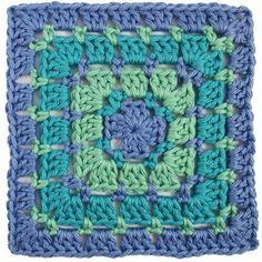 Een mooie variatie op de bekende Granny Square is dit vierkant in Bloksteek : Het patroon is eenvoudig: Maak een Magische ring. ...