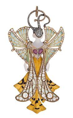 Colgante de oro, ágatas, rubís, diamantes y esmaltes. Henri y Paul Vever.1900