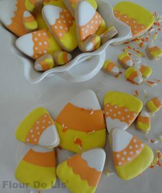 Candy Corn Cookies, by Flour De Lis