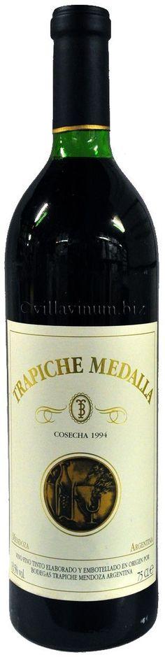 """Trapiche Medalla"" 80% Cabernet Sauvignon / 12% Malbec / 8% Merlot 1993 - Bodega Trapiche, Maipú, Mendoza--------------------------------- Terroir: Cruz de Piedra-------------- Crianza: 15 meses en barricas de roble francés nuevas"
