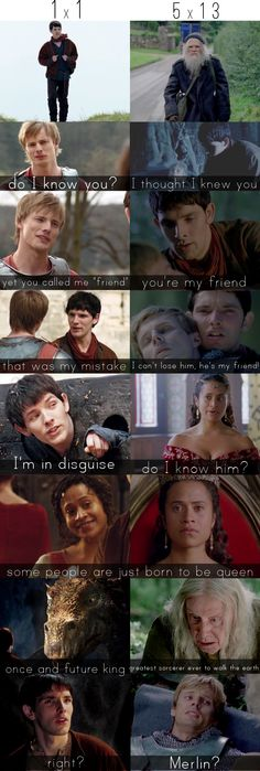 #Merlin parallels: first episode and last episode