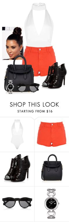 """""""2017/266"""" by dimceandovski ❤ liked on Polyvore featuring Boohoo, Alexander McQueen, Illesteva and Tissot"""