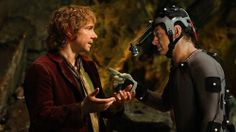 Martin Freeman & Andy Serkis filming The Hobbit: An Unexpected Journey