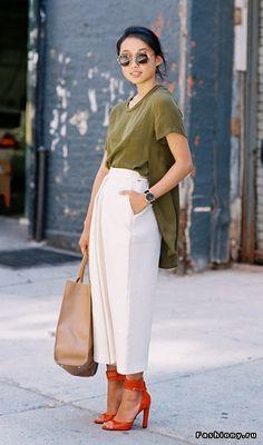 Ещё раз о белом: брюки