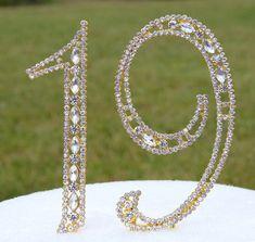 New 5 Gold Rhinestone NUMBER Nineteen 19 by SevenSpringSupply