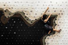 Ascension: A Bespoke Climbing Wall Design for the Ace Hotel Home Climbing Wall, Rock Climbing, London Design Festival, English Fun, Ace Hotel, Rock Wall, Creative Studio, Wall Design, Modern Design