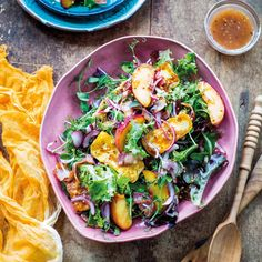 Grilled peach, crispy bacon and haloumi salad By Nadia Lim