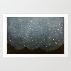 Buy Night Sky Art Print by cloudysoot. Worldwide shipping available at Society6.com. Just one of millions of high quality products available.