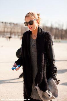 Anja Rubik #streetstyle #fashion #modeloffduty