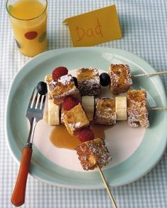French Toast Kebabs |