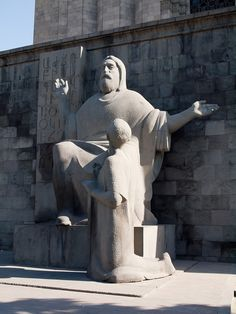 Armenia - Mesrop Mashtots.  This is a statue of Mesrop Mashtots who invented the Armenian alphabet in the 5th Century.