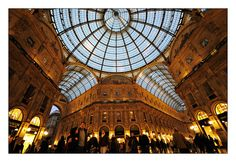 """""""Galleria Vittorio Emanuele II""""  a famous place for shopping in the center of Milan."""