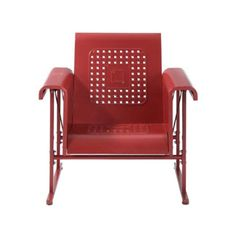 Danny Glider Chair Red----Reminds me of my grandmother Ita Caro, she had the whole set. Wish I could've kept it. I have no idea where it is now.