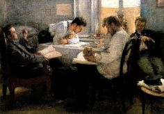 Leonid Pasternak (1862-1945) - 1895 The Night before the Examination ~ Musee d'Orsay, Paris, France
