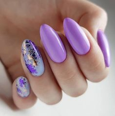 Purple is often overlooked color, In daily life. Similarly, purple nail design is also ignored. Nail art is another way of expressing our personality. Light Purple Nails, Purple Nail Art, Purple Nail Designs, Colorful Nail Designs, Beautiful Nail Designs, Creative Nail Designs, Creative Nails, Nail Art Designs, Nails Design