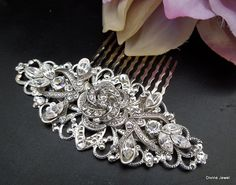 Bridal Hair Comb by DivineJewel - Etsy