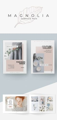 Presentation Templates—Magnolia Complete Pack by studiosumac in Presentations Magnolia design line has a feminine, minimalist aesthetic The pack includes everything needed to kickstart your brand and give it a chic and consistent look across all mediums. Including : PowerPoint  | Keynote | Instagram | Lookbook Template | Flyer Templates | Brochure Template | Stationery Set | Invoice Template and much more #presentation #template #stationery #itsmesimon #mockup #templates