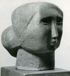 """""""Head of a Woman"""" Sculpture de l'artiste britannique Henry Moore -1926-"""