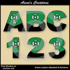 Green Lantern Justice League Alphabet Letters & by AisnesCreations