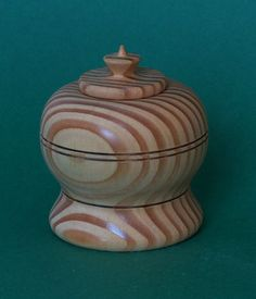 Lidded box, Douglasfir, 8cm Lathe Projects, Woodturning, Boxes, Jar, Decor, Resume, Turning, Wood Turning, Crates