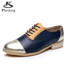 Cheap women oxford shoes, Buy Quality designer flat shoes directly from China flat shoes Suppliers: Women oxford shoes leather designer vintage flat shoes round toe handmade brown silver 2017 oxfords flats shoes for women fur