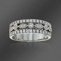 Ross-Simons - Simon G. .45 ct. t.w. Diamond Band Ring In 18kt White Gold - #761323