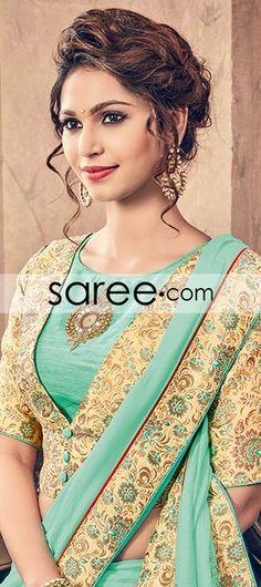 Sea Green Chiffon Saree with Embroidery Work #Saree #GeorgetteSarees #IndianSaree #Sarees #SilkSarees #PartywearSarees #RegularwearSarees #officeWearSarees #WeddingSarees #BuyOnline #OnlieSarees #NetSarees #ChiffonSarees #DesignerSarees #SareeFashion